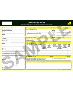 Gas Safe Inspection Report Pad - 50 Sets