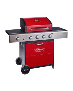 Outback Meteor Red 4 Burner Gas BBQ