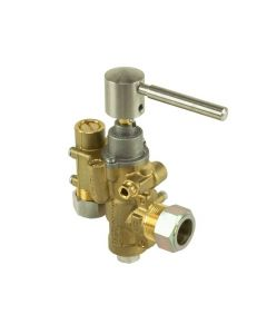 PEL23S Gas Catering Valve Right Angle Inlet/Outlet 20mm