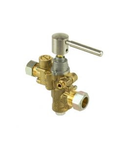 PEL23S Gas Catering Valve Straight Through Inlet/Outlet 20mm